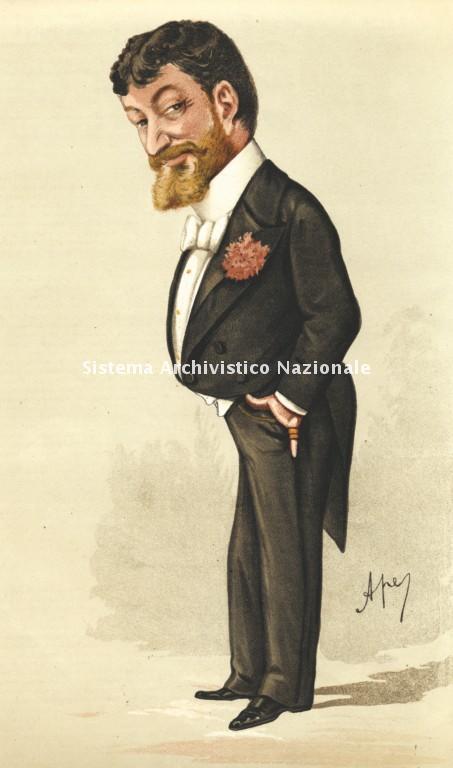 Caricatura di Francesco Paolo Tosti eseguita da Ape, alias Carlo Pellegrini, pubblicata nell'articolo Men of the day. Signor Paolo Tosti, in