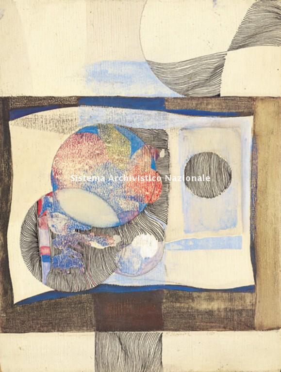 Tempera e china su tavola di Francesco Pennisi, senza sitolo, 1967 (Privato, Fondo Francesco Pennisi)