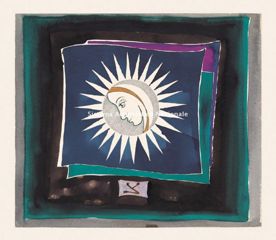 Acquarello tratto da Carteggio di Francesco Pennisi, 1981 (Privato, Fondo Francesco Pennisi)