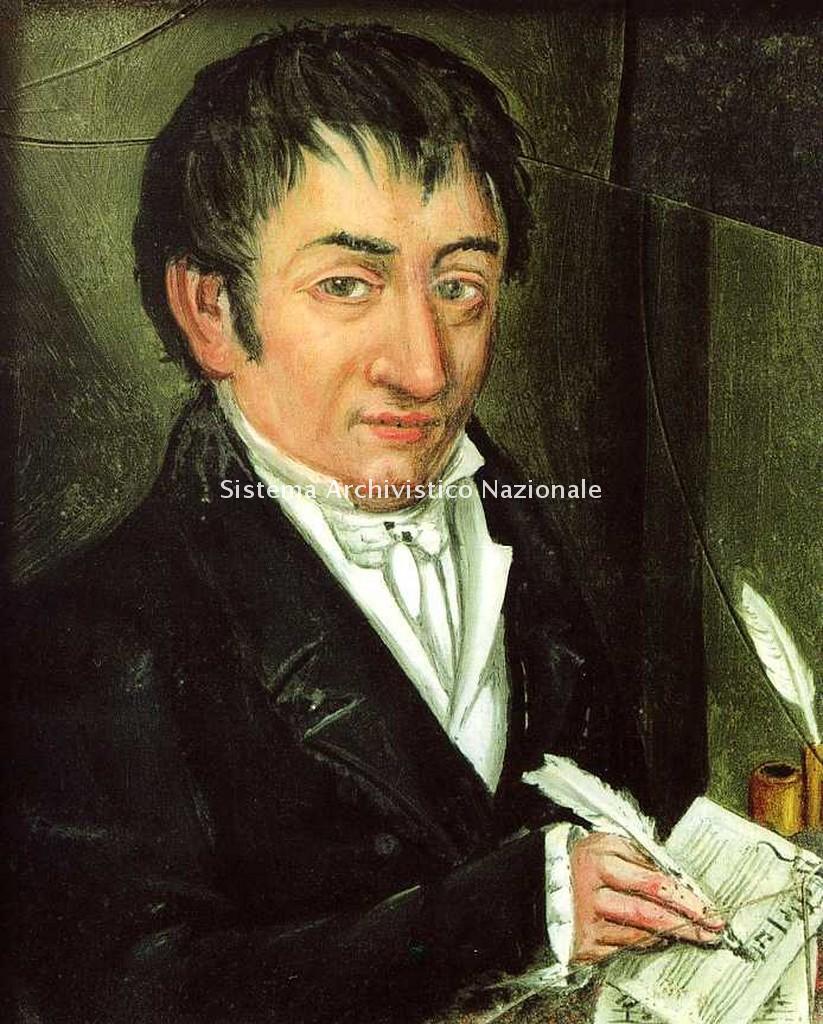 Ritratto di Ferdinando Provesi, compositore, organista e maestro di Giuseppe Verdi, sec. XIX prima metà (Museo civico Pallavicino Busseto)