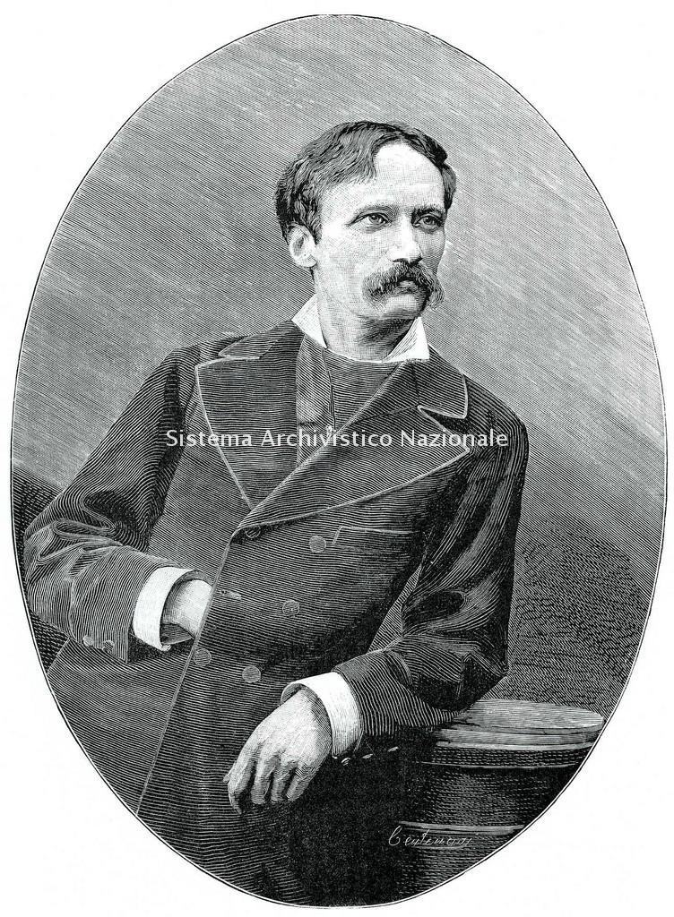 Incisione di Arrigo Boito eseguita da Ambrogio Centenari, da una fotografia dei Fratelli Vianelli, 1887 (Fondazione Istituto nazionale di studi verdiani)