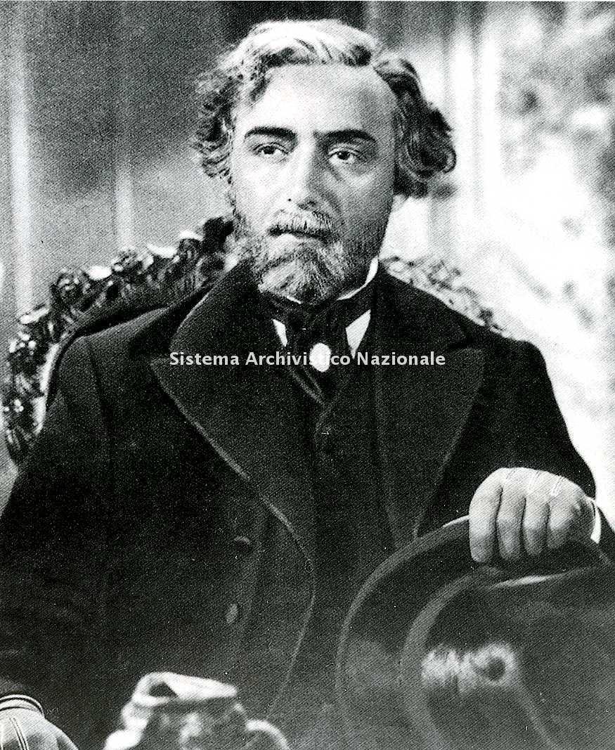 Fosco Giachetti nelle vesti di Giuseppe Verdi nell'omonimo film del regista Carmine Gallone, 1938 (Collezione privata)