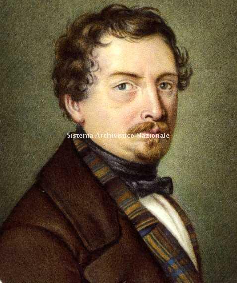 Ritratto di Salvadore Cammarano autore dei libretti di quattro opere di Giuseppe Verdi: